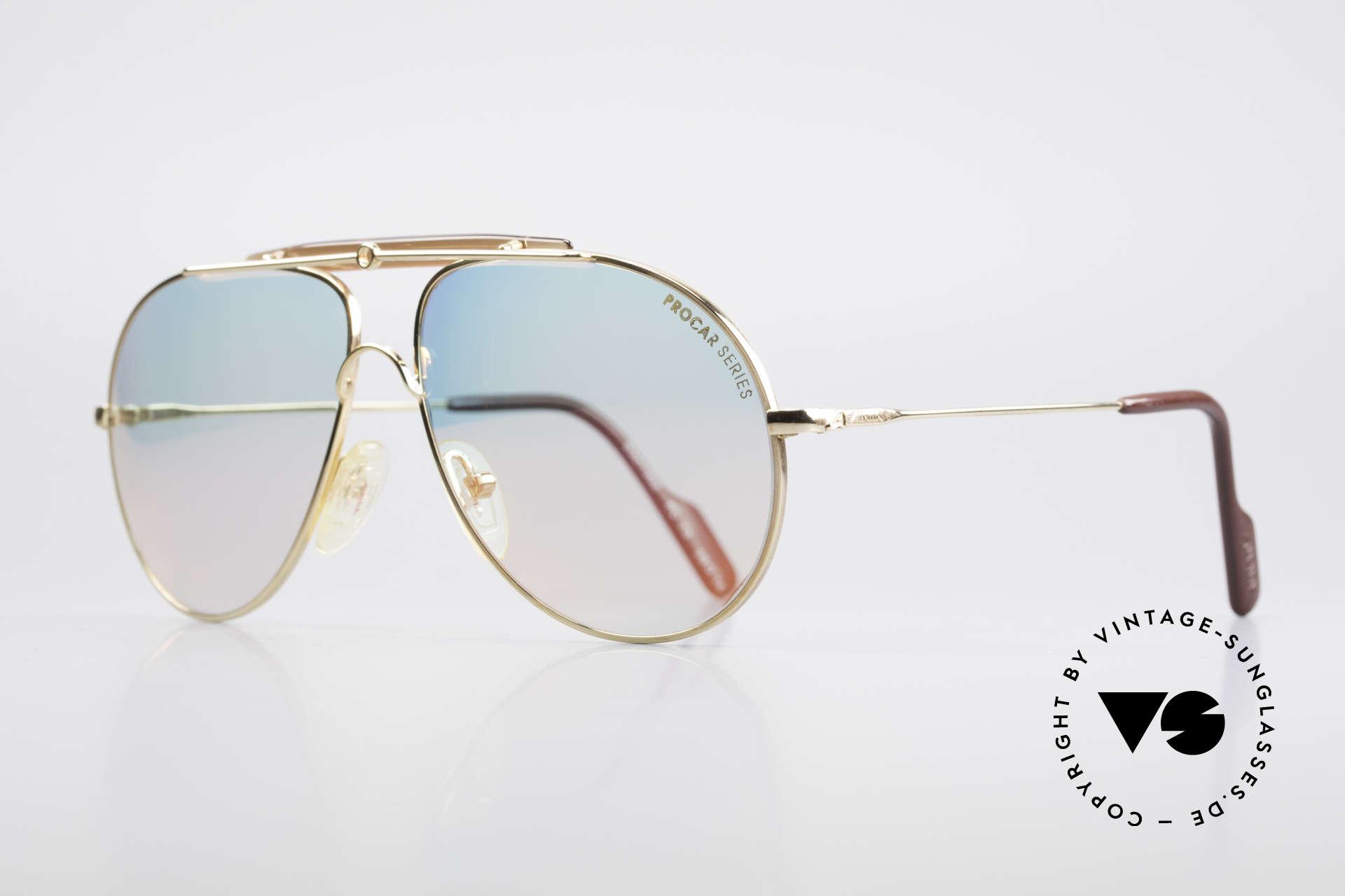 Alpina PC73 ProCar Serie Sonnenbrille Men, enorm hochwertig entspiegelte Mineralgläser (100 %UV), Passend für Herren und Damen