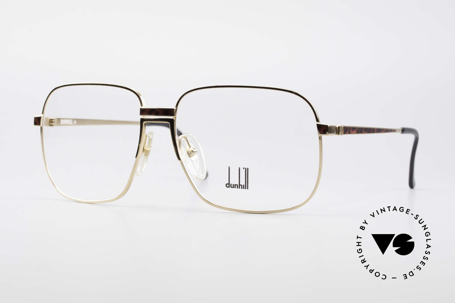 Dunhill 6090 Chinalack 90er Herrenbrille, vintage A. Dunhill Gentleman-Brillenfassung v. 1990, Passend für Herren