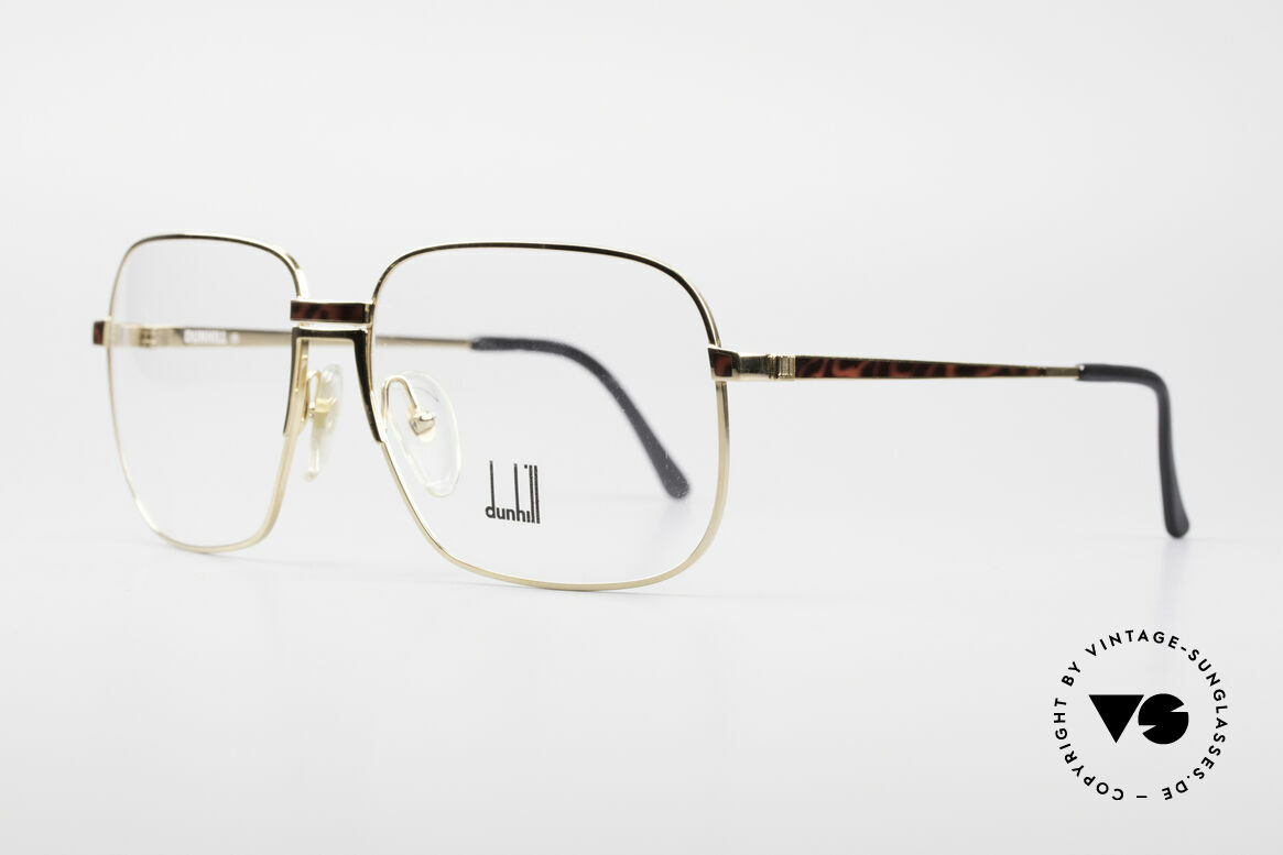 Dunhill 6090 Chinalack 90er Herrenbrille, edle, vergoldete Fassung mit flexibler Rahmenbrücke, Passend für Herren