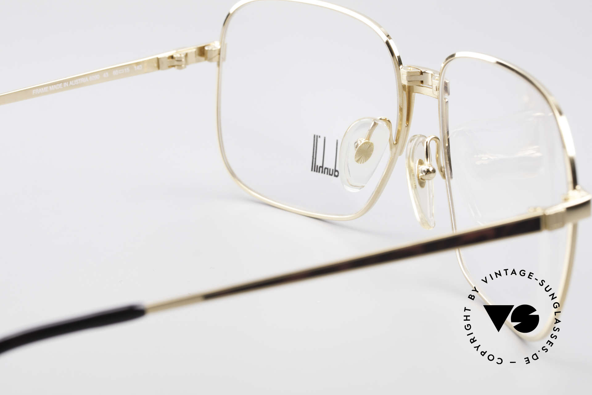 Dunhill 6090 Chinalack 90er Herrenbrille, Größe: large, Passend für Herren