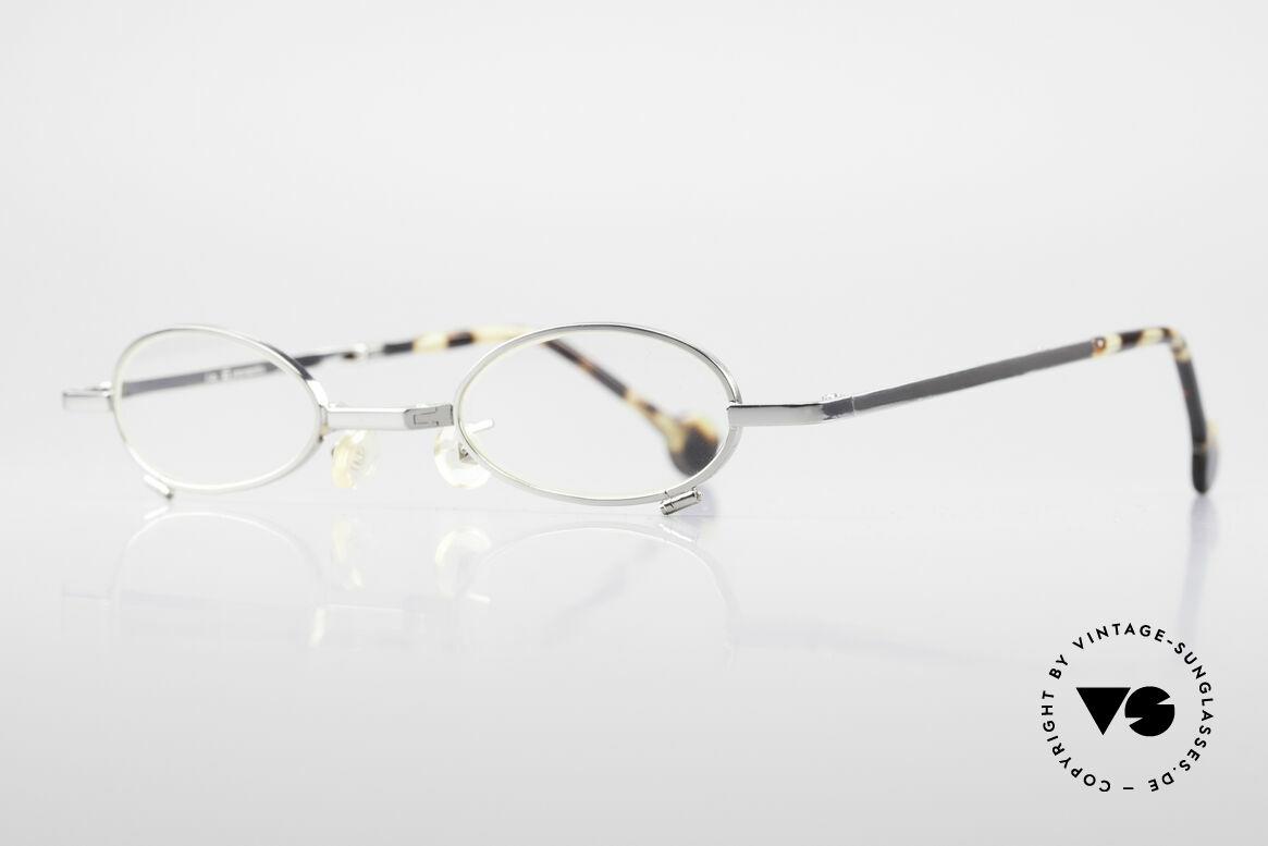 L.A. Eyeworks TIO 405 Faltbrille Brille zum Falten, viel Liebe zum Detail (jeder Rahmen mit 'Geburtsjahr'), Passend für Herren und Damen