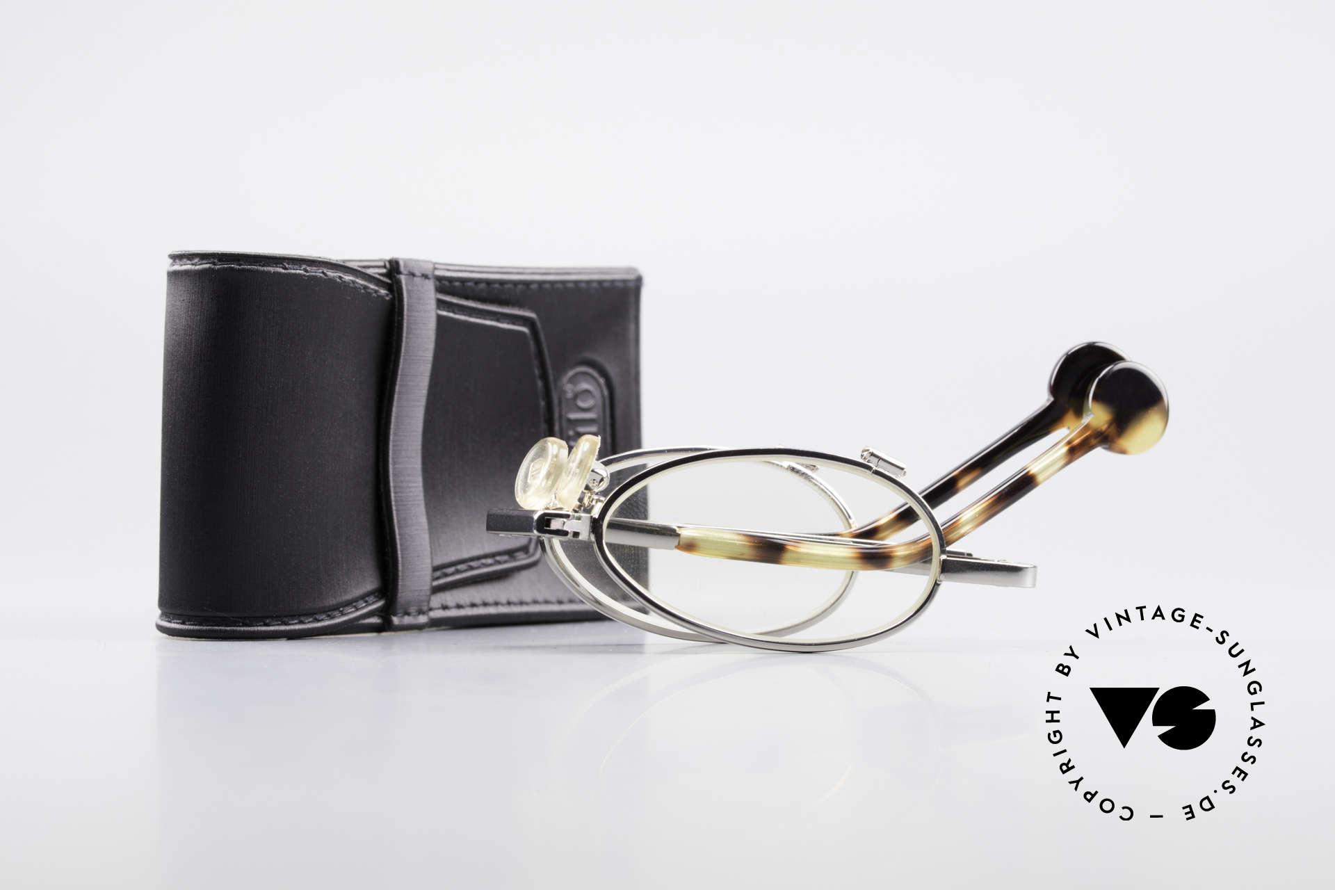L.A. Eyeworks TIO 405 Faltbrille Brille zum Falten, Größe: medium, Passend für Herren und Damen