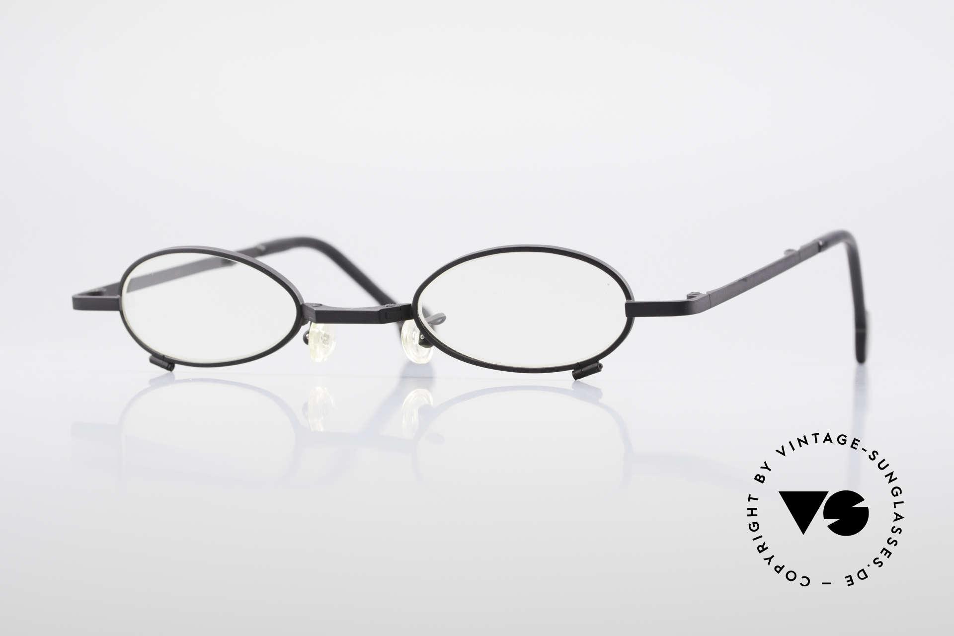 L.A. Eyeworks TIO 412 Brille zum Falten Faltbrille, L.A. EYEWORKS: Kleinstserien aparter Brillenmodelle, Passend für Herren und Damen