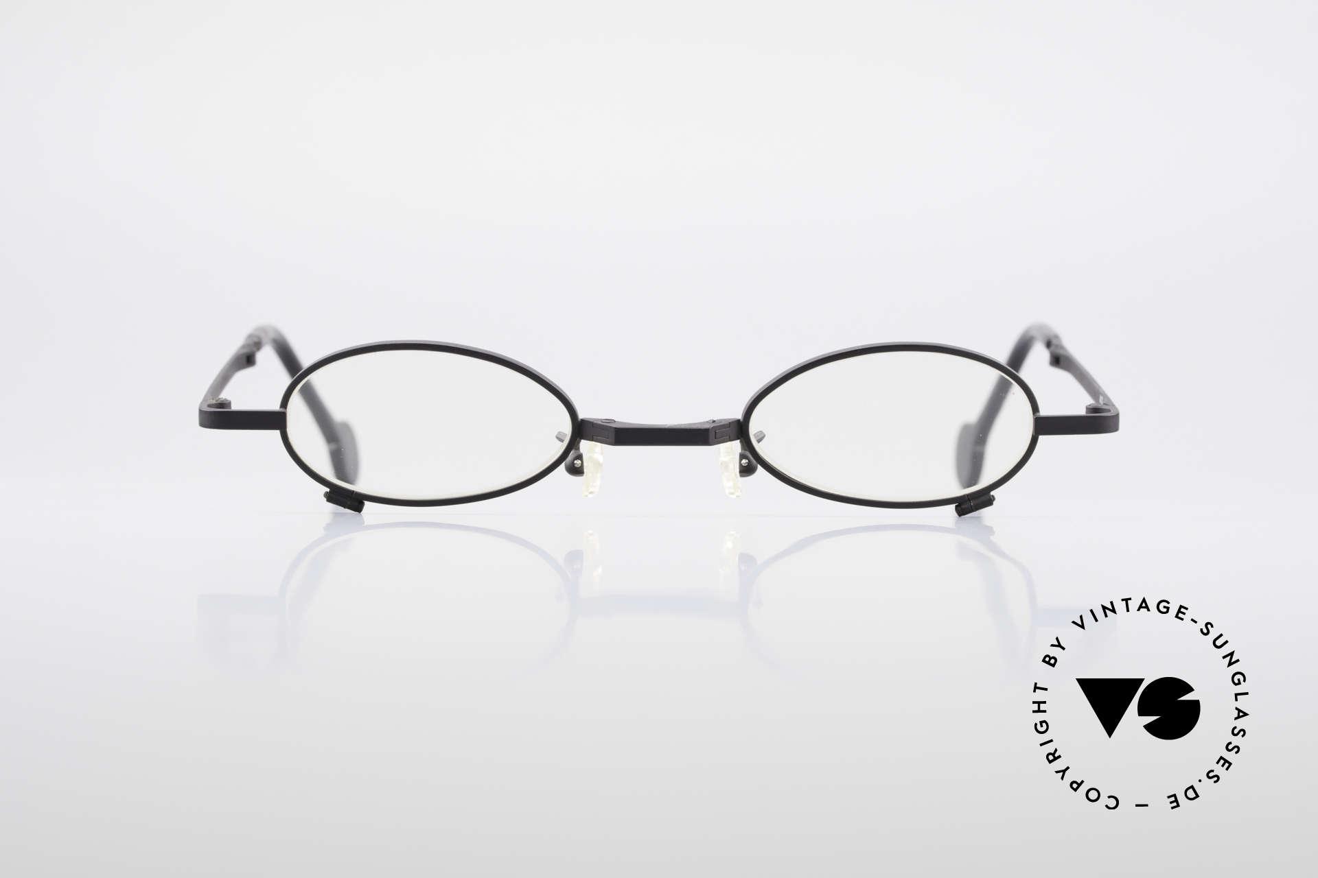 L.A. Eyeworks TIO 412 Brille zum Falten Faltbrille, handgefertigt, mit den charakteristischen Bügelenden, Passend für Herren und Damen