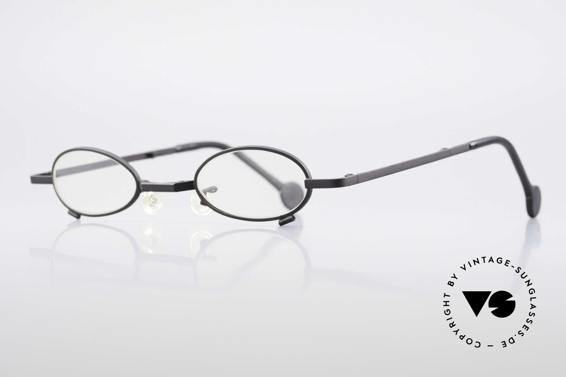 L.A. Eyeworks TIO 412 Brille zum Falten Faltbrille, viel Liebe zum Detail (jeder Rahmen mit 'Geburtsjahr'), Passend für Herren und Damen