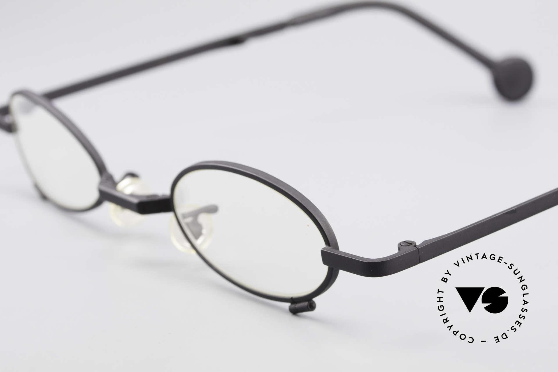 L.A. Eyeworks TIO 412 Brille zum Falten Faltbrille, praktische, faltbare Fassung (passt in fast jede Tasche), Passend für Herren und Damen