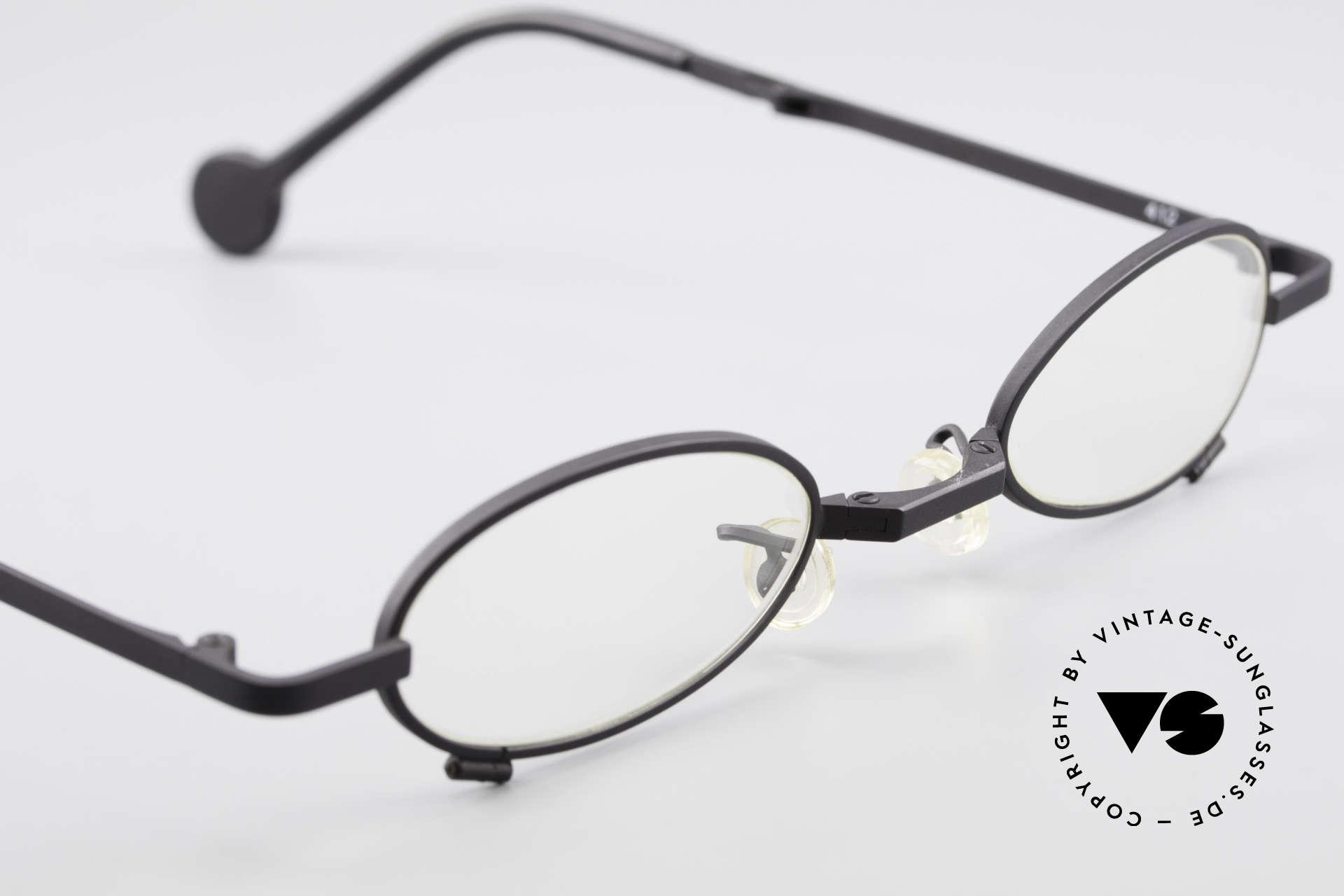 L.A. Eyeworks TIO 412 Brille zum Falten Faltbrille, ungetragen (wie all unsere vintage L.A.E. Lesebrillen), Passend für Herren und Damen