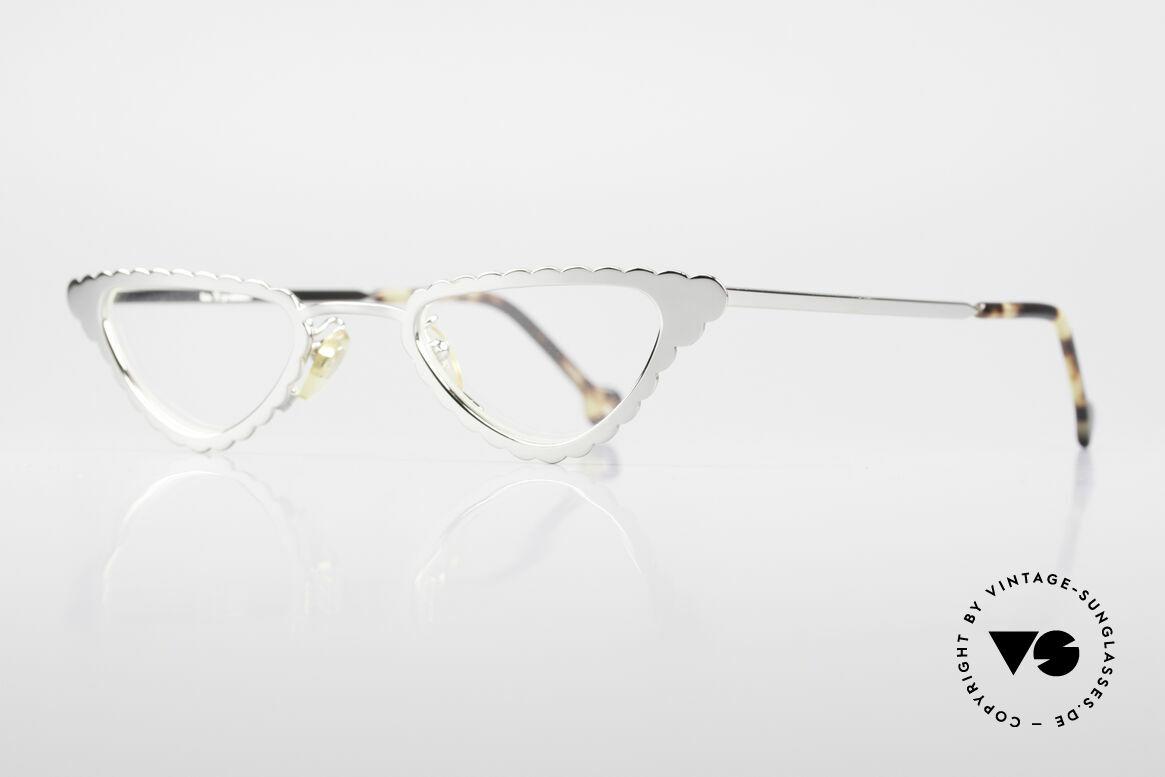 L.A. Eyeworks Macaroni 405 Lesebrille Wie Ein Blatt, viel Liebe zum Detail: der Rahmen hat ein 'Geburtsjahr', Passend für Damen