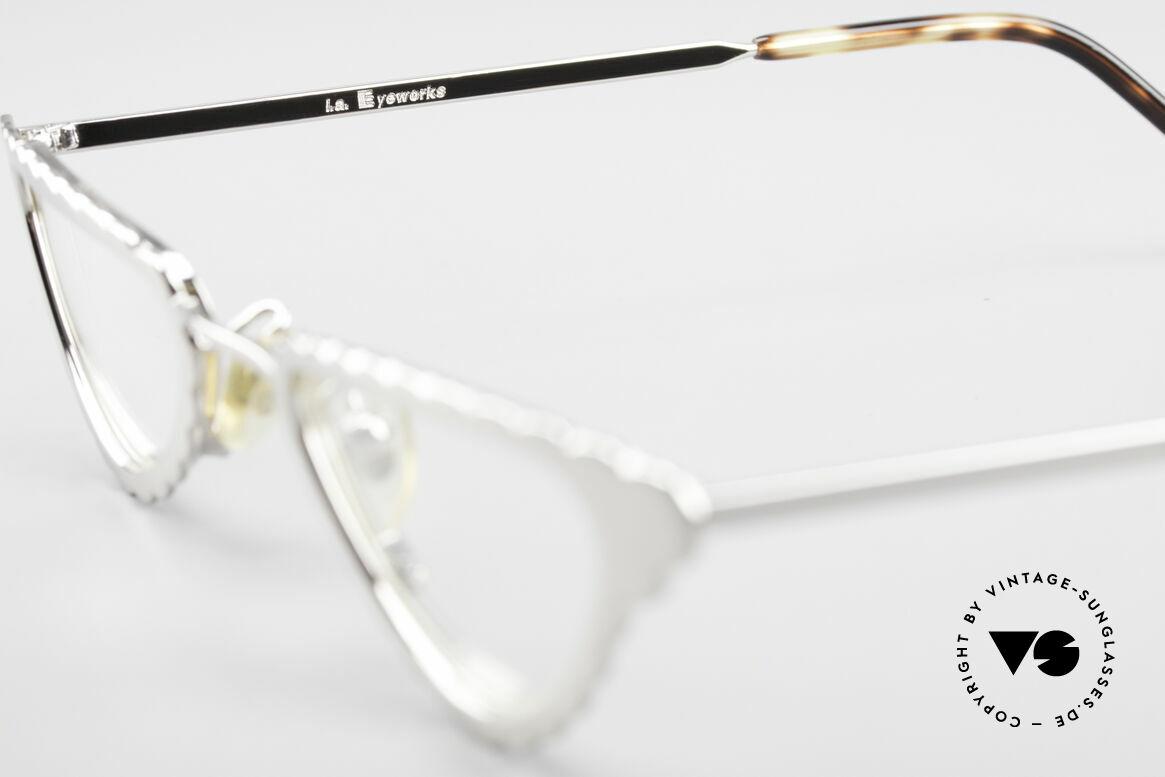 L.A. Eyeworks Macaroni 405 Lesebrille Wie Ein Blatt, ungetragen (wie all unsere vintage L.A.E. Lesebrillen), Passend für Damen