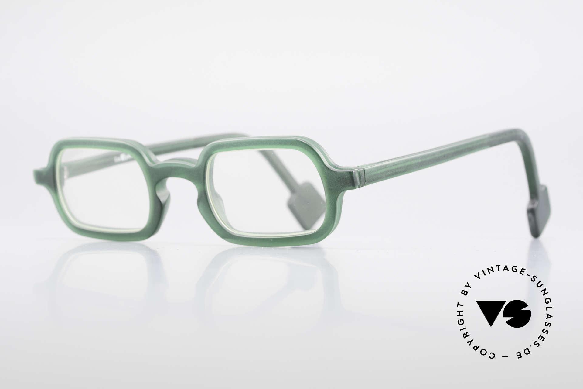 L.A. Eyeworks HANK 230 True Vintage 90er Fassung, minimalistische Konstruktion geometrischer Formen, Passend für Herren
