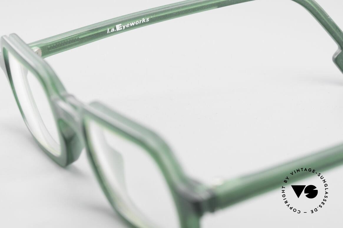 L.A. Eyeworks HANK 230 True Vintage 90er Fassung, ungetragenes Einzelstück (wie all unsere LAE Brillen), Passend für Herren