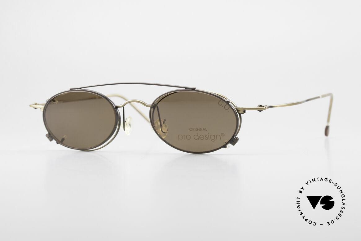 ProDesign P806 Clip On Sonnenbrille Polar, edle 90er Jahre Designerbrille von ProDesign Denmark, Passend für Herren und Damen