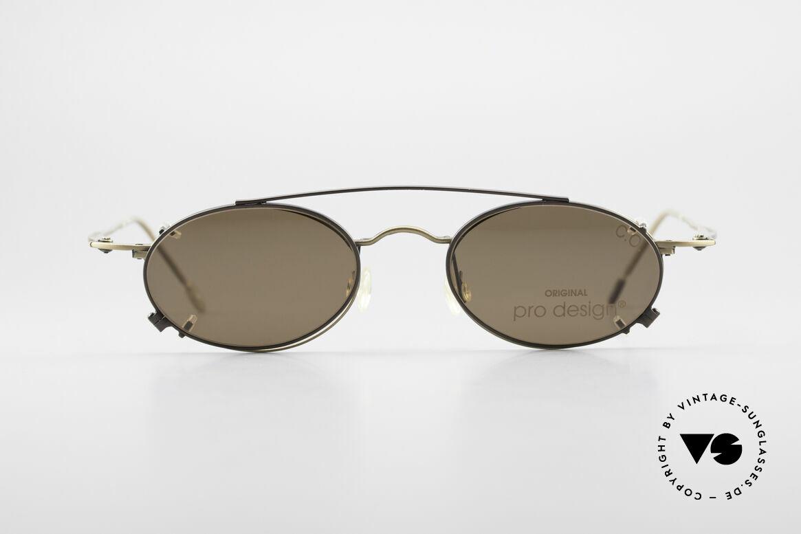 ProDesign P806 Clip On Sonnenbrille Polar, stilvoll eleganter Rahmen in klassisch zeitloser Farbe, Passend für Herren und Damen