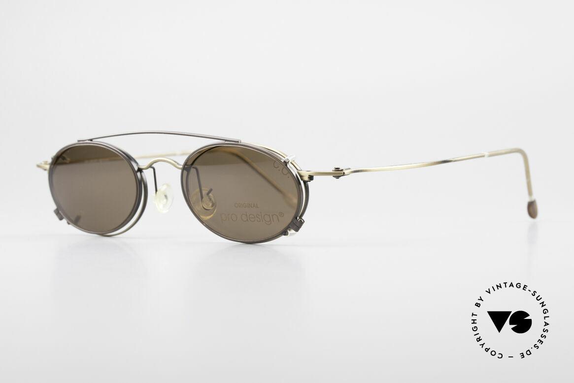 """ProDesign P806 Clip On Sonnenbrille Polar, Lackierung in einer Art """"messing"""" (wirklich sehr edel), Passend für Herren und Damen"""