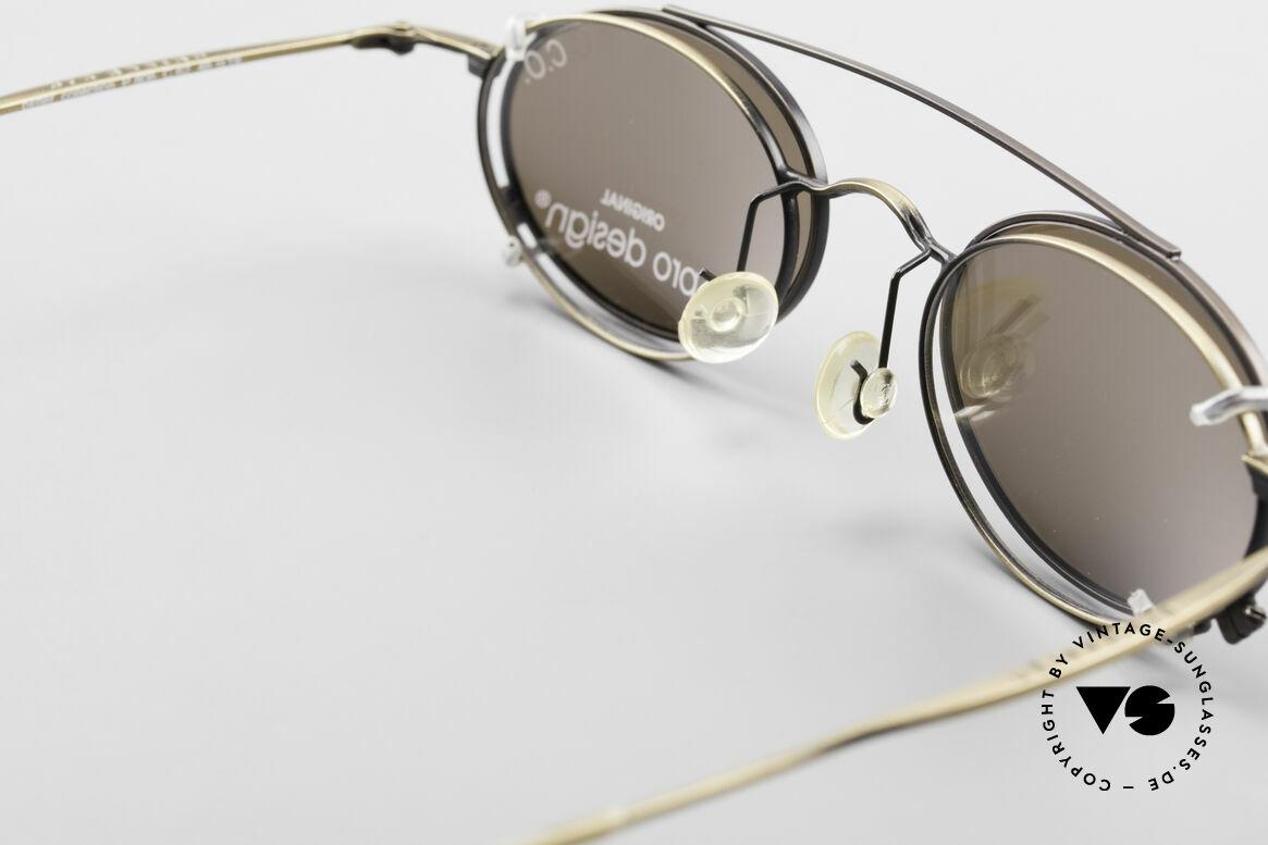ProDesign P806 Clip On Sonnenbrille Polar, ungetragenes Exemplar in fühlbarer Spitzen-Qualität!, Passend für Herren und Damen