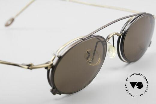 ProDesign P806 Clip On Sonnenbrille Polar, KEINE Retromode, sondern ein ca. 20 J. altes Original, Passend für Herren und Damen