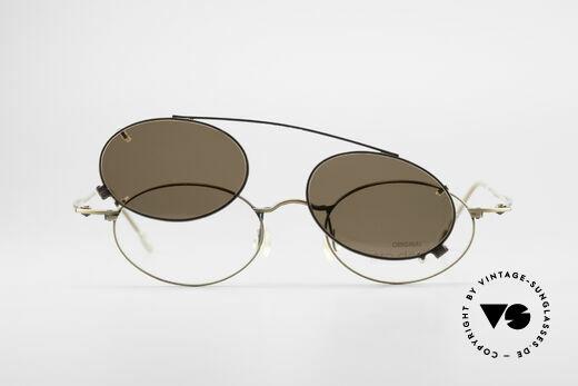 ProDesign P806 Clip On Sonnenbrille Polar, Größe: medium, Passend für Herren und Damen