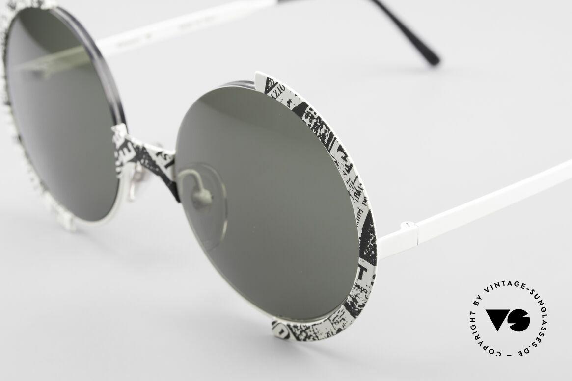 Casanova FC4 Zeitungsmuster Sonnenbrille