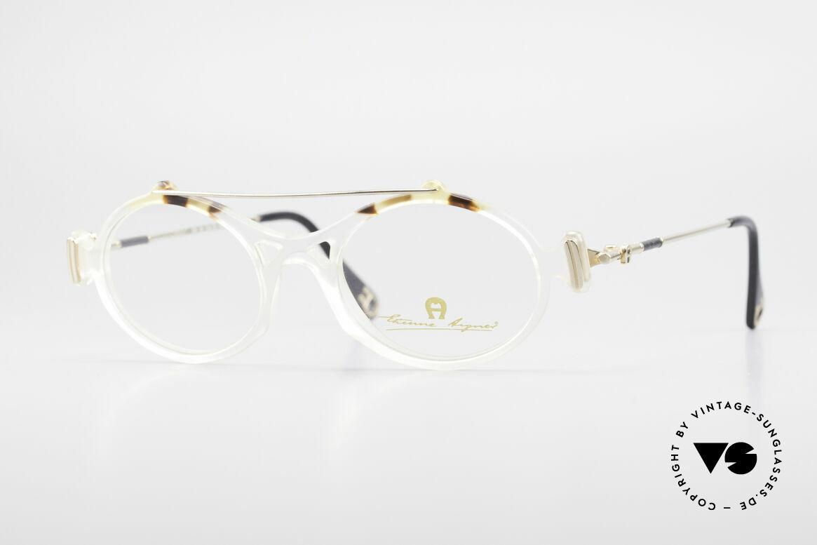 Aigner EA56 Echt 80er Luxus Brillenfassung, Etienne Aigner vintage Designer-Brille der 1980er, Passend für Damen