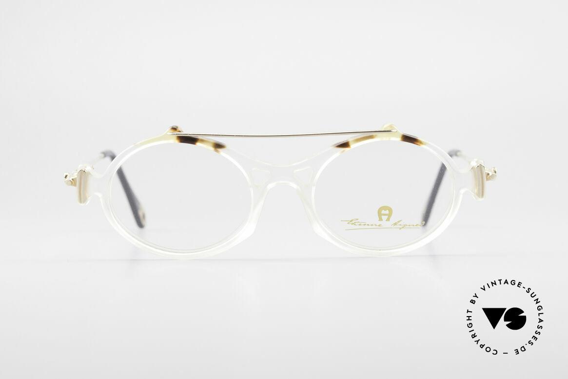 Aigner EA56 Echt 80er Luxus Brillenfassung, transparente Brillenfassung in KLEINER Gr. 45-18, Passend für Damen