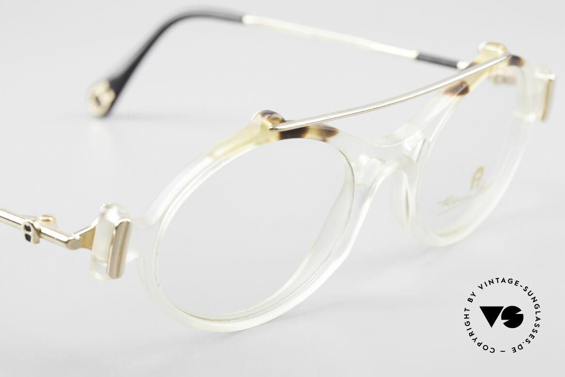 Aigner EA56 Echt 80er Luxus Brillenfassung, ungetragen (wie alle unsere vintage Aigner Brillen), Passend für Damen