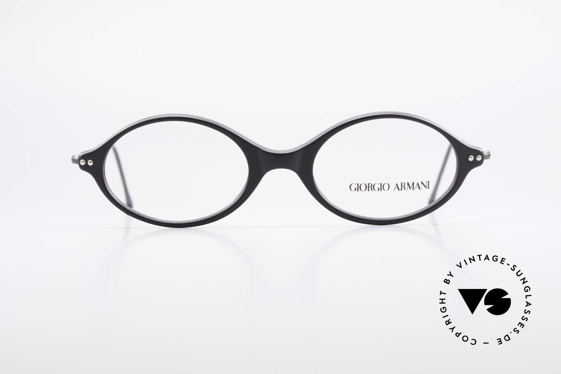 """Giorgio Armani 378 90er Unisex Fassung Oval, schlichte & puristische GA Fassung """"Unisex-Brille"""", Passend für Herren und Damen"""