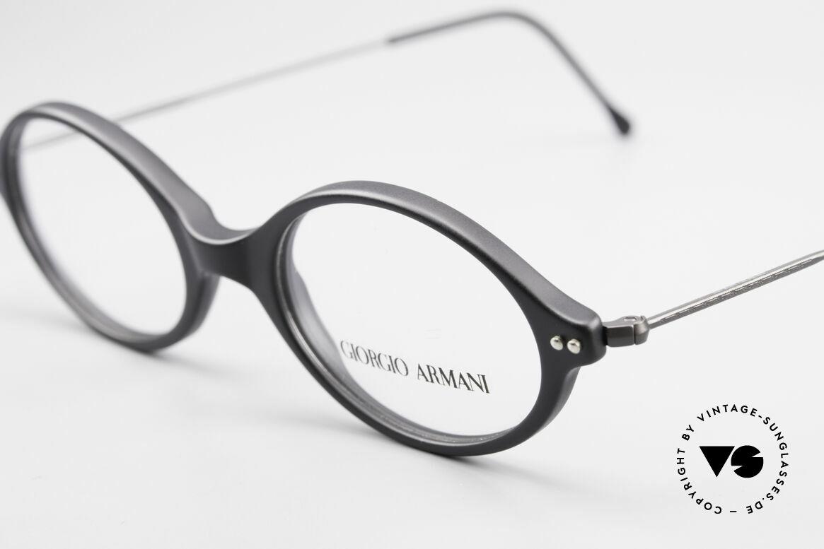 Giorgio Armani 378 90er Unisex Fassung Oval, zeitloser Stil; Top-Qualität und nur 9 Gramm leicht, Passend für Herren und Damen