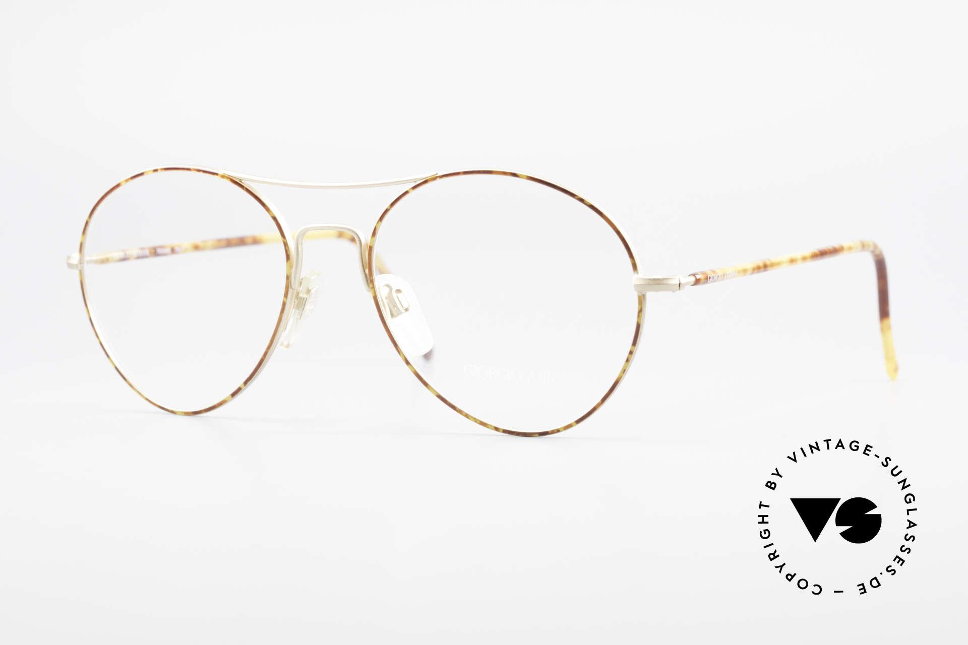 Giorgio Armani 120 Vintage Aviator Brille Herren, Aviator Herren-Brille vom Modedesigner G.Armani, Passend für Herren