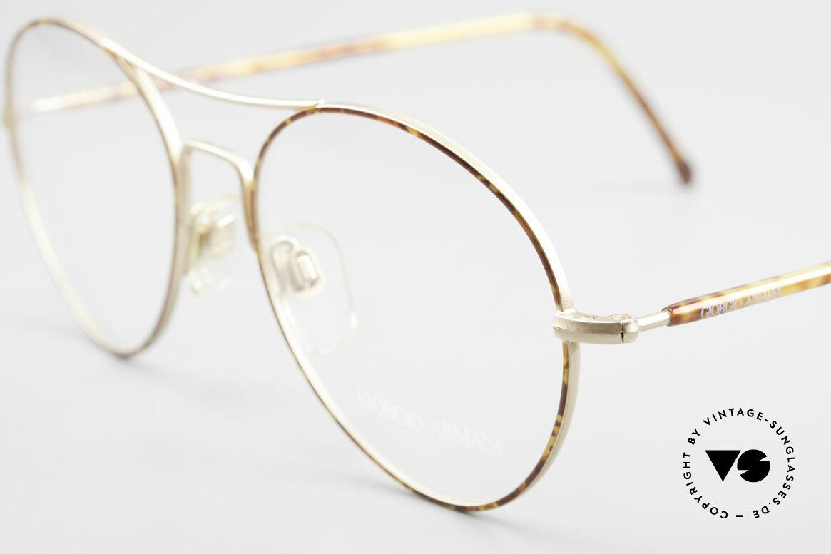 Giorgio Armani 120 Vintage Aviator Brille Herren, dezenter, zeitloser Stil; passt gut zu jedem Look!, Passend für Herren