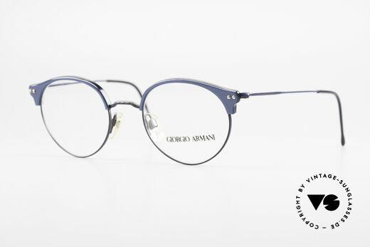 Giorgio Armani 377 Echt 90er Panto Brillengestell Details