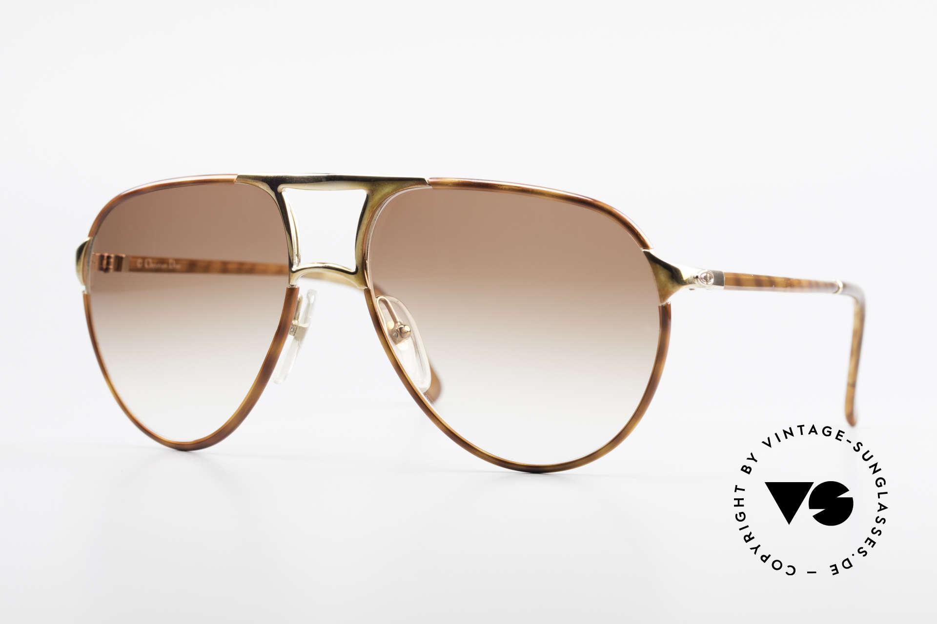 Christian Dior 2505 Designer Aviator Sonnenbrille, vintage Aviator Sonnenbrille von Christian Dior, Passend für Herren