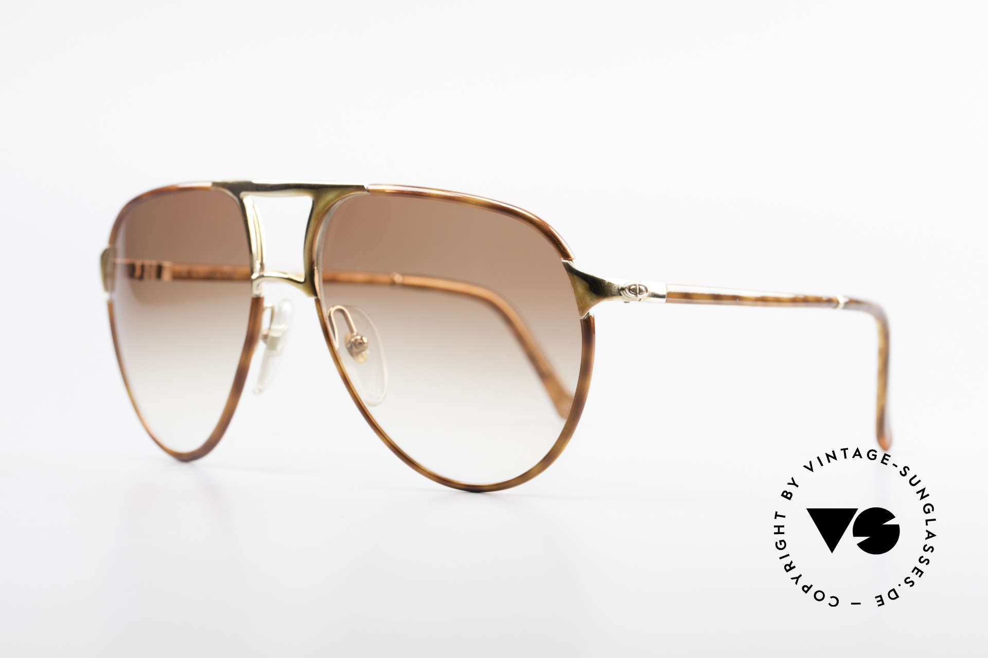 Christian Dior 2505 Designer Aviator Sonnenbrille, elegante Rahmengestaltung in hellem Schildpatt, Passend für Herren