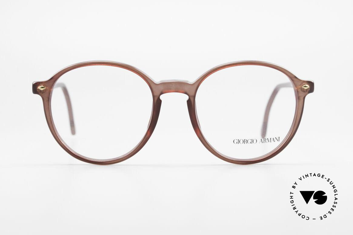 Giorgio Armani 325 Vintage 90er Panto Fassung, klassische Brillenform in echter Premium-Qualität, Passend für Herren