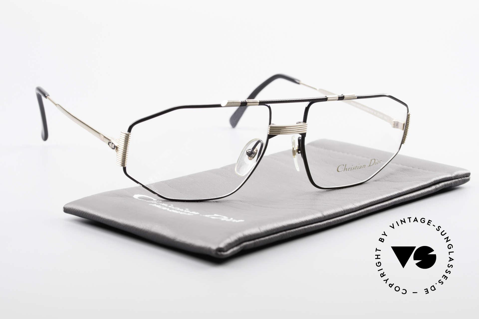 Christian Dior 2516 Vergoldete Vintage Brille 80er, die Qualitätsfassung kann beliebig verglast werden, Passend für Herren