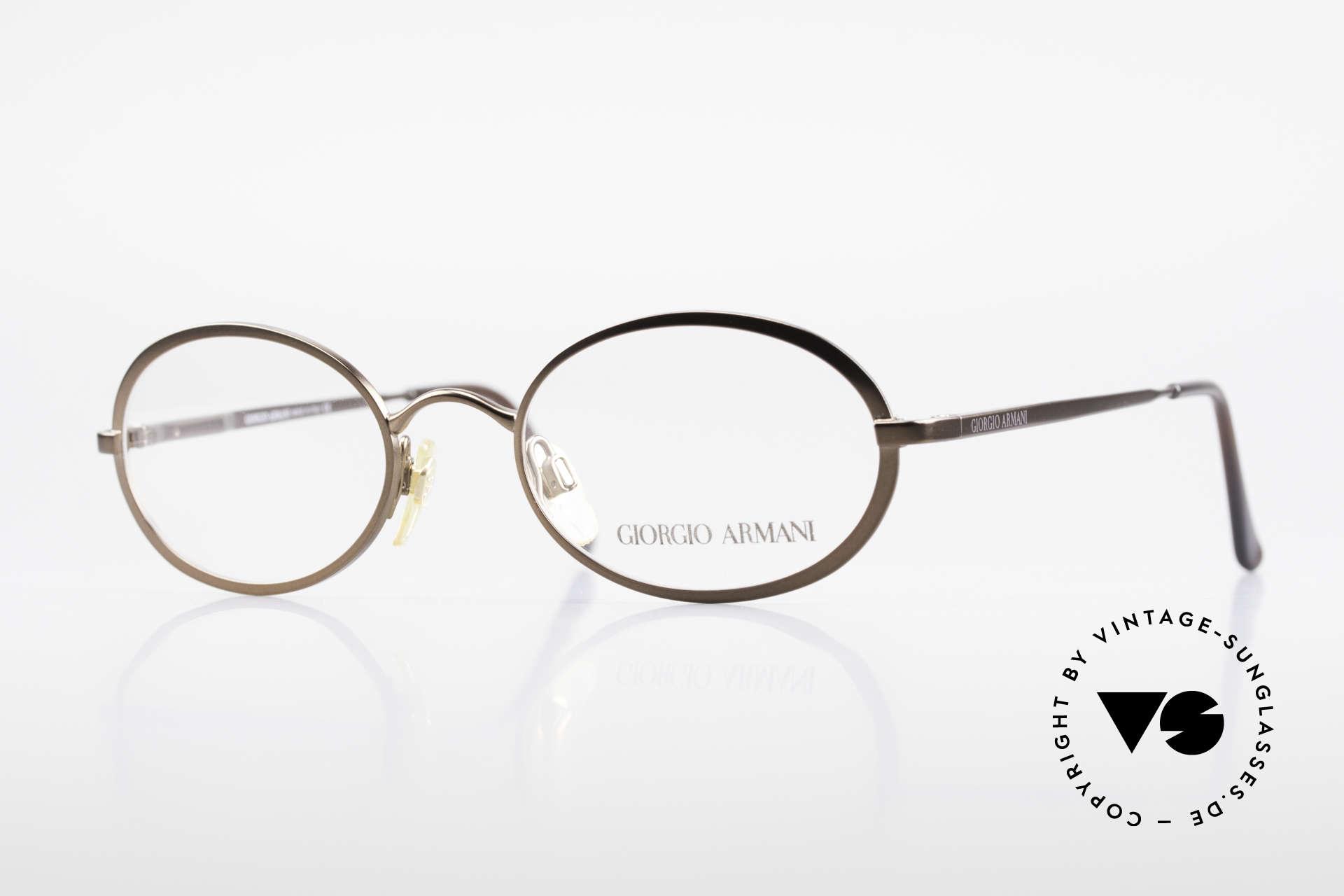 Giorgio Armani 277 90er Vintage Fassung Oval, ovale vintage Brillenfassung vom GIORGIO ARMANI, Passend für Herren und Damen