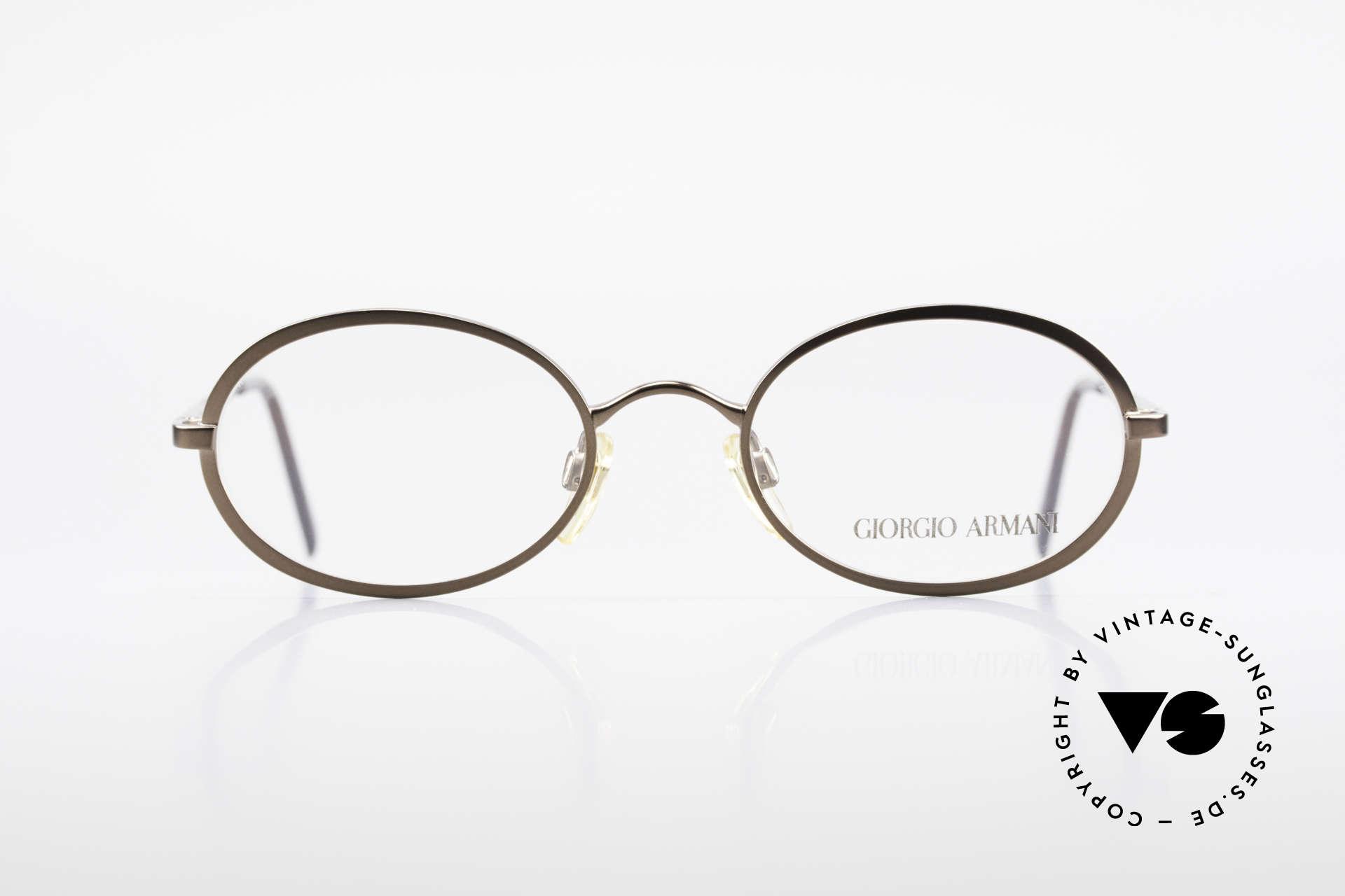 Giorgio Armani 277 90er Vintage Fassung Oval, dezenter, zeitloser Stil; passt gut zu fast jedem Look, Passend für Herren und Damen