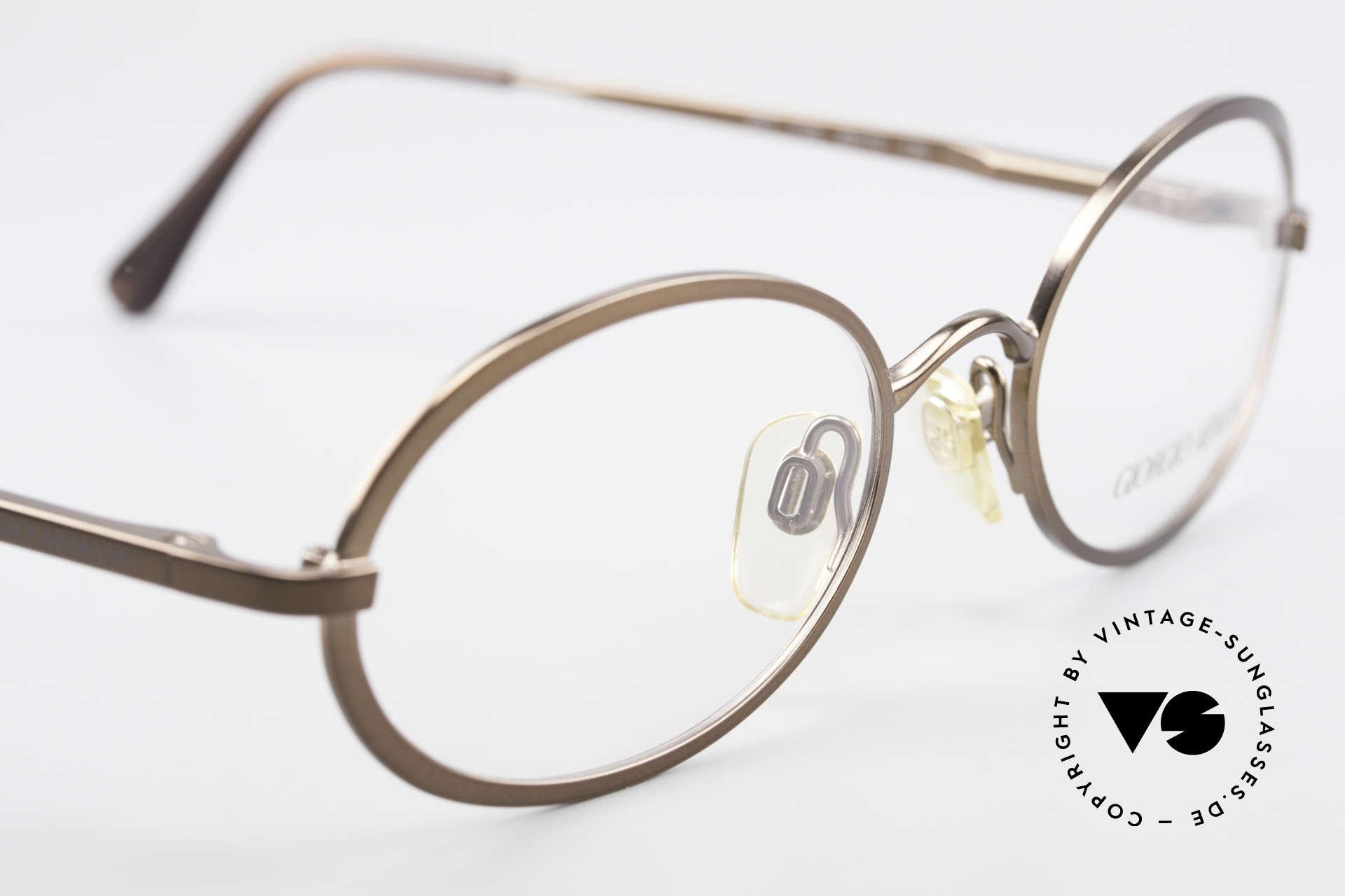 Giorgio Armani 277 90er Vintage Fassung Oval, keine aktuelle Kollektion, sondern alte Originalware!, Passend für Herren und Damen