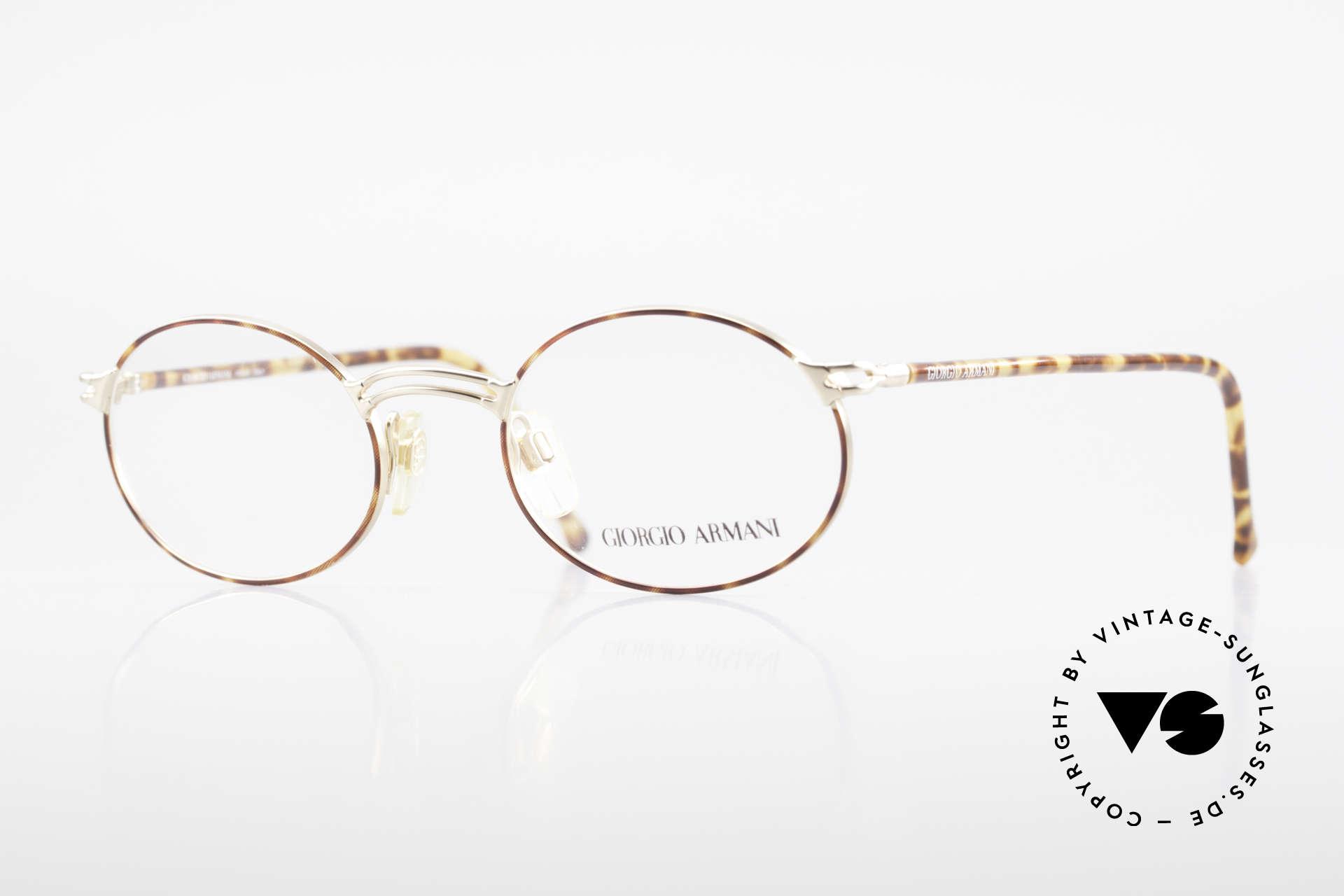 Giorgio Armani 194 Vintage Fassung No Retro Oval, vintage Designer-Brillenfassung v. Giorgio Armani, Passend für Herren und Damen