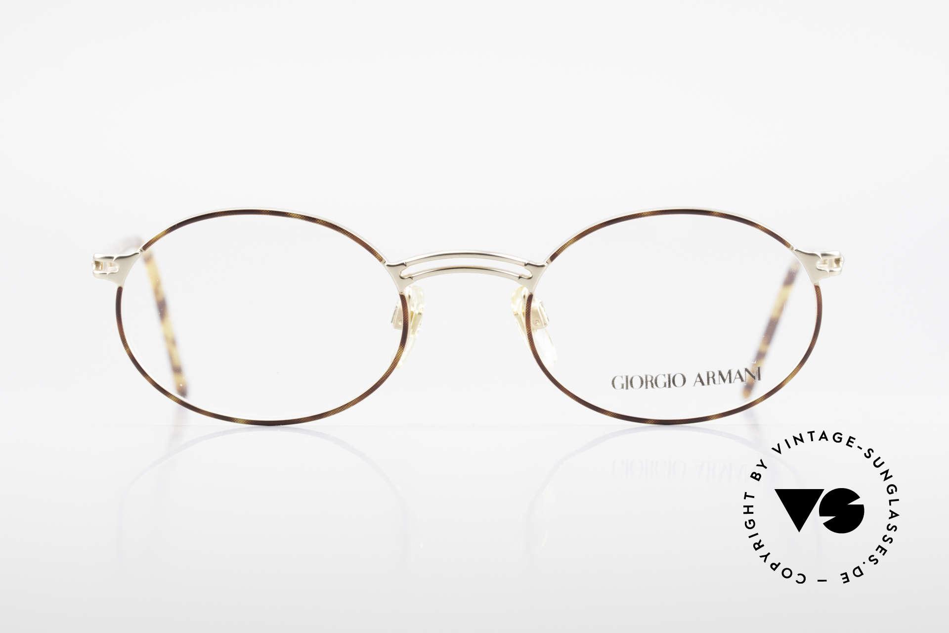 Giorgio Armani 194 Vintage Fassung No Retro Oval, klassische, ovale Brillenform - zeitloser Klassiker!, Passend für Herren und Damen