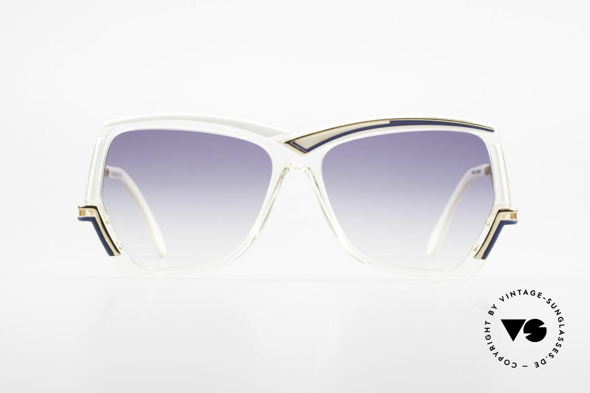 Cazal 178 Extravagante Sonnenbrille, reizendes Cazal Design der 80er Jahre (ca. 1989), Passend für Damen