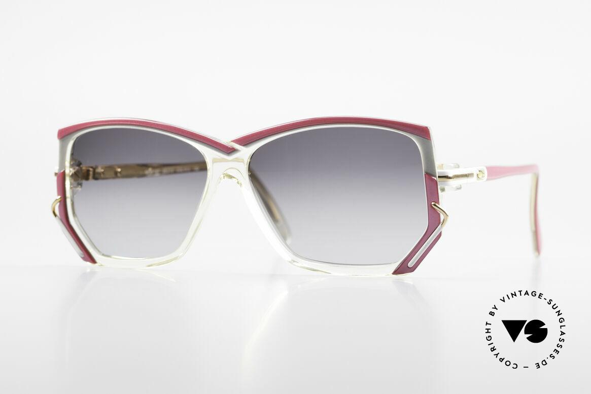 Cazal 197 80er Vintage Sonnenbrille, vintage CAZAL Designer-Sonnenbrille von 1988/89, Passend für Damen