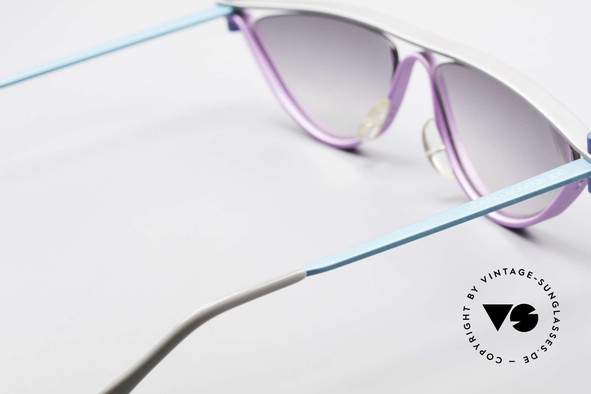 ProDesign No6 90er Vintage Filmsonnenbrille, grandioses Einzelstück - nicht nur für Filmliebhaber, Passend für Damen
