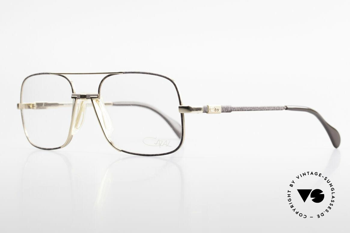 Cazal 740 Vintage Brille Herren 1990er, super seltene Ausführung in gold/grau-marmoriert, Passend für Herren