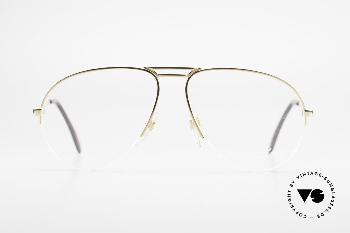 Cazal 726 West Germany Pilotenbrille, vintage Brille vom Designer CAri ZALloni, Passend für Herren