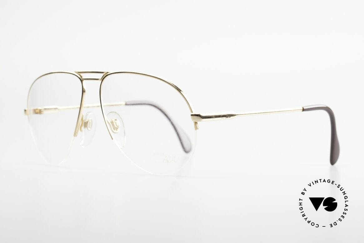 Cazal 726 West Germany Pilotenbrille, halb rahmenlos (sehr angenehm zu tragen), Passend für Herren