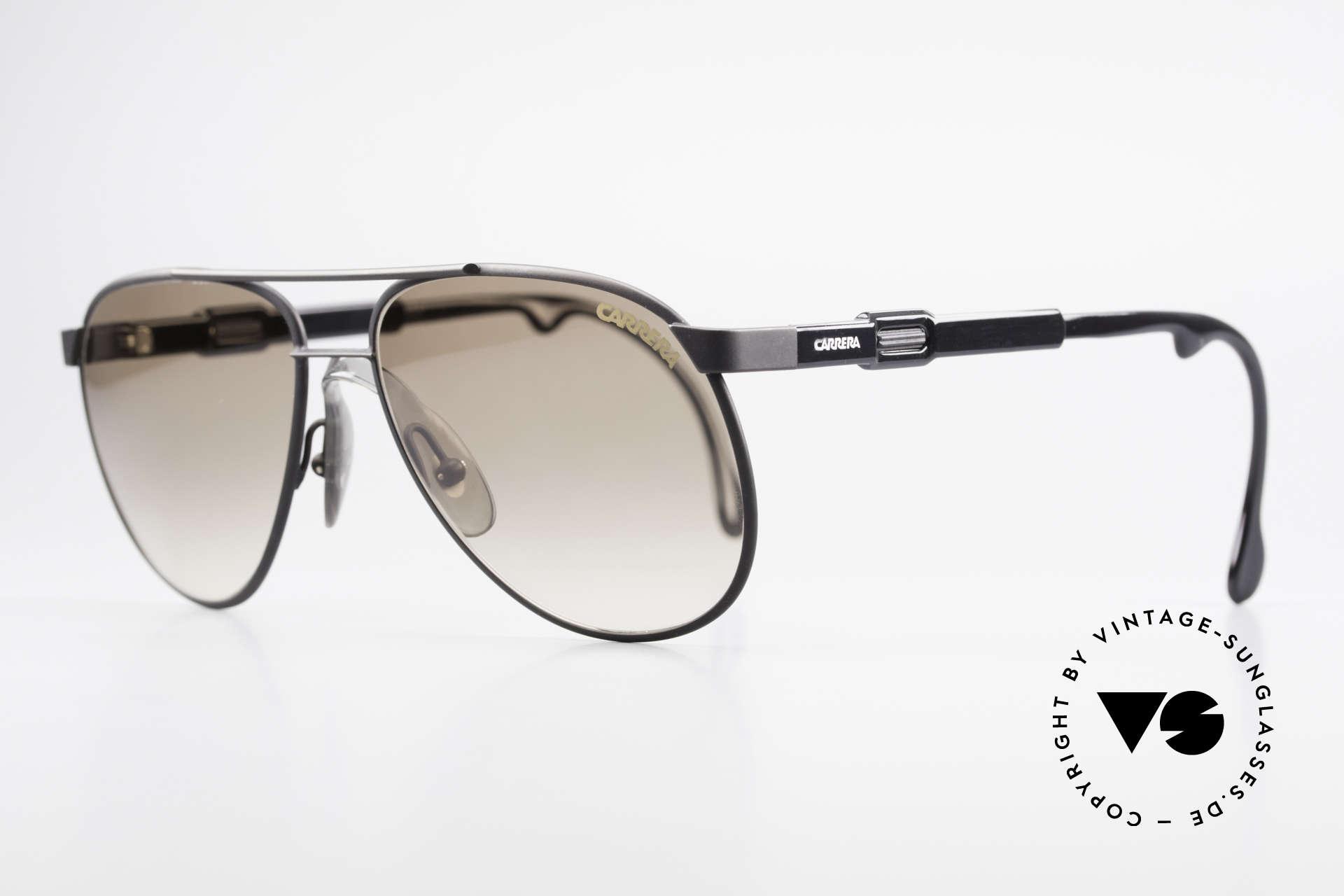 Carrera 5348 Vario Sport Sonnenbrille 80er, variable Bügellänge durch Carrera Vario System, Passend für Herren und Damen