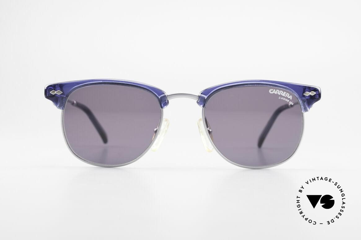 Carrera 5324 Vintage Panto Sonnenbrille, klassisch-elegante Kombination von Farbe und Form, Passend für Herren