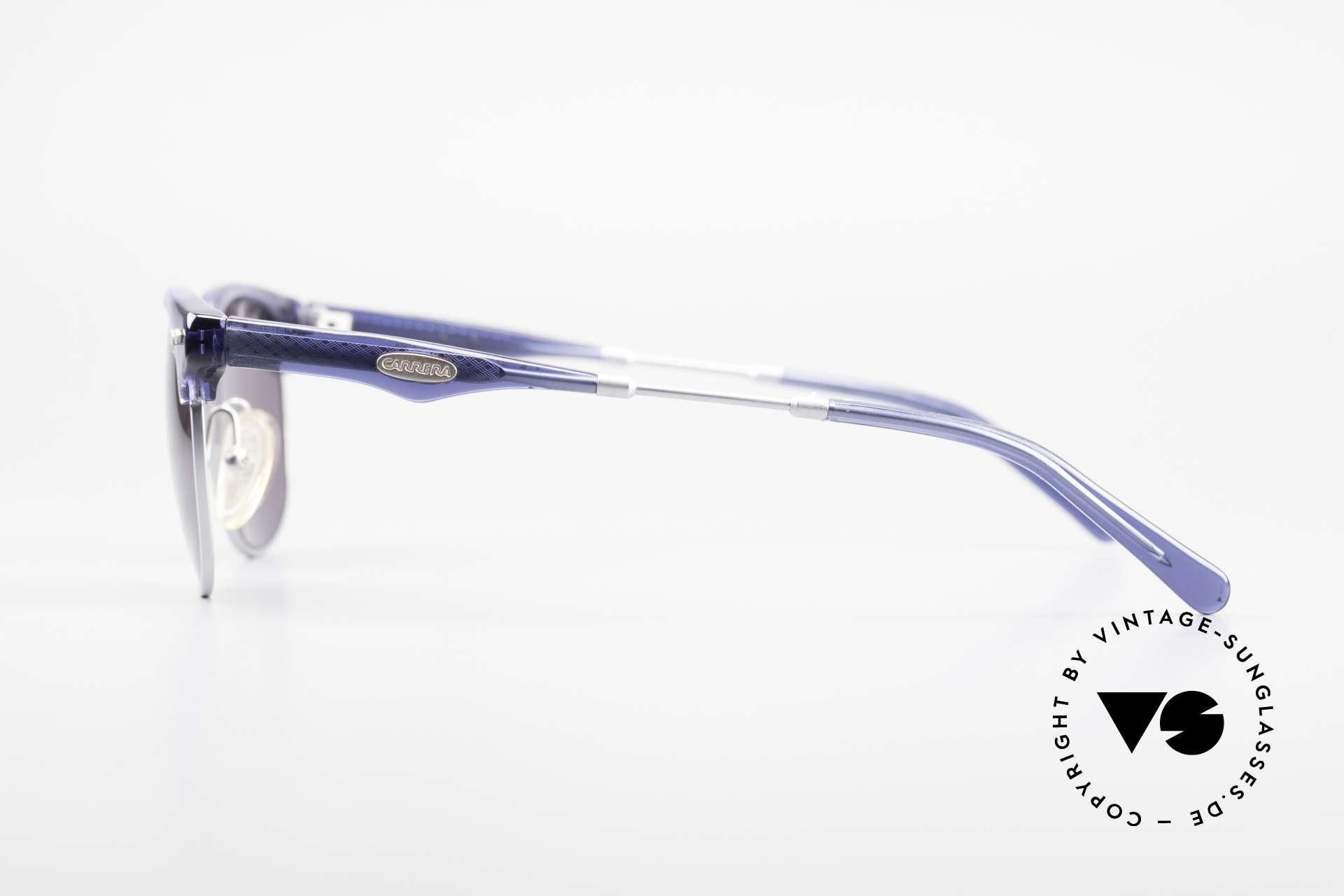 Carrera 5324 Vintage Panto Sonnenbrille, ungetragenes Einzelstück (inkl. Movado Soft-Beutel), Passend für Herren
