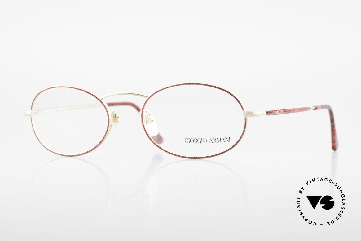 Giorgio Armani 125 Ovale 80er Vintage Fassung, vintage Brillenfassung vom Modedesigner G. Armani, Passend für Damen
