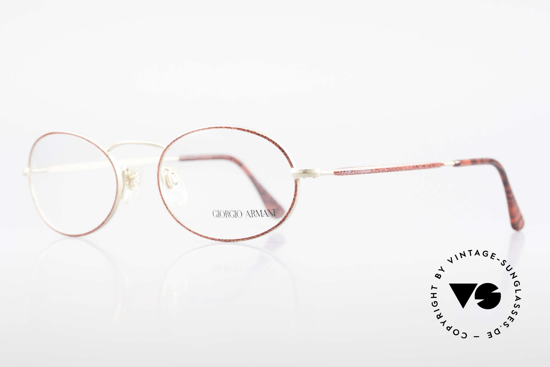 Giorgio Armani 125 Ovale 80er Vintage Fassung, dezenter, zeitloser Stil; passt gut zu fast jedem Look, Passend für Damen